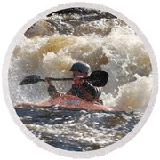 Kayak 6 Round Beach Towel