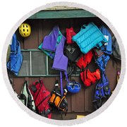 Kayakers Dream Round Beach Towel