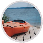 Kayaks  Round Beach Towel