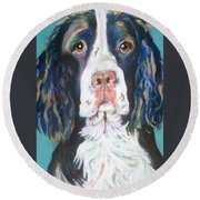Kayla Round Beach Towel by Pat Saunders-White
