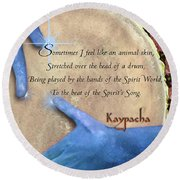 Kaypacha  May 18, 2016 Round Beach Towel