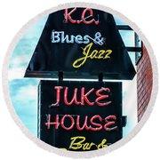 Kc Blues Round Beach Towel