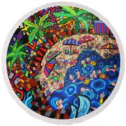 KE3 Round Beach Towel