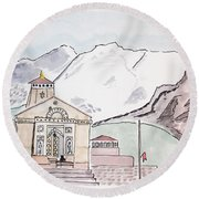 Kedarnath Jyotirling Round Beach Towel