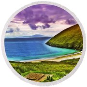 Keem Bay - Ireland Round Beach Towel
