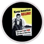 Keep America Rolling Round Beach Towel