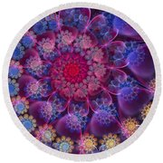 Keep Your Hearts Pink Round Beach Towel