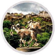 Keeper Of The Castle 2 Round Beach Towel