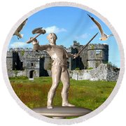 Keeper Of The Castle 4 Round Beach Towel