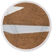 Keeping A Clean House Round Beach Towel