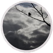 Keeping Above The Storm Round Beach Towel