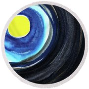 Keeping The Dark At Bay Round Beach Towel