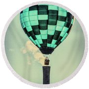 Keeping Warm As You Float Round Beach Towel