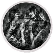 Keith And Ronnie 2 Round Beach Towel