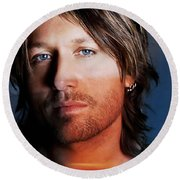 Keith Urban  Round Beach Towel