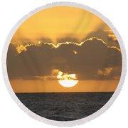Kekaha Sunset Round Beach Towel