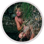 Kelly Nude Round Beach Towel