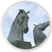 Kelpies Round Beach Towel