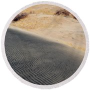 Kelso Dunes Portrait Round Beach Towel