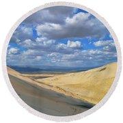 Kelso Sand Dunes Round Beach Towel