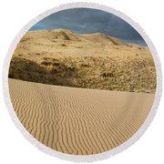 Kelso Singing Sand Dunes  Round Beach Towel