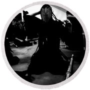 Kendo - Suiting Up For Examination Round Beach Towel