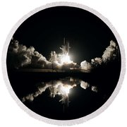 Kennedy Space Center, United States By Nasa Round Beach Towel