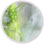 Kensho- Abstract Art By Linda Woods Round Beach Towel