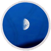 Kensingtons Moon Reflection 2  Round Beach Towel