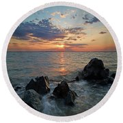 Kent Island Mother's Day Sunset Round Beach Towel