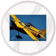 Kent Jackson In Once More, Friday Morning. 5x7 Aspect Signature Edition  Round Beach Towel
