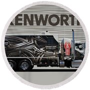 Kenworth Proudly Made In The Usa Round Beach Towel