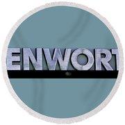 Kenworth Semi Truck Logo Round Beach Towel