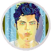 Keremstagram Round Beach Towel