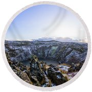 Kerid Crater Round Beach Towel
