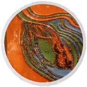 Kernel - Tile Round Beach Towel
