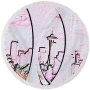 Kerry Needle 2 Round Beach Towel