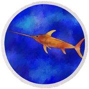 Kessonius V1 - Amazing Swordfish Round Beach Towel