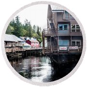 Ketchikan Alaska Round Beach Towel