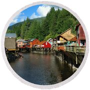 Ketchikan Creek Round Beach Towel