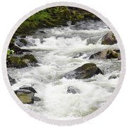 Ketchikan Creek Of Creek Street Fame Round Beach Towel