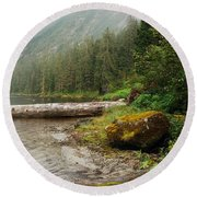 Ketchikan's Misty Fjord Round Beach Towel