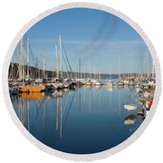 Kettering Harbour Round Beach Towel