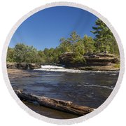 Kettle River Big Spring Falls 7 Round Beach Towel