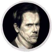 Kevin Bacon - The Following Round Beach Towel