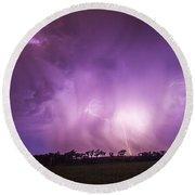 Kewl Nebraska Cg Lightning And Krawlers 018 Round Beach Towel