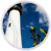Key Biscayne Lighthouse, Florida Round Beach Towel