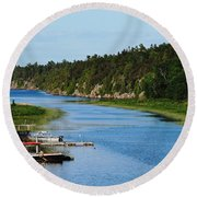 Key River Round Beach Towel