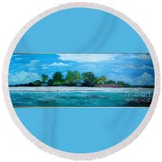 Key West Beach Round Beach Towel