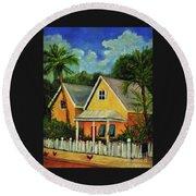 Key West Cottage Round Beach Towel